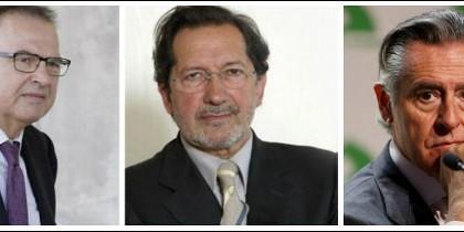 Ramón Espinar padre, Moral Santín y Miguel Blesa.