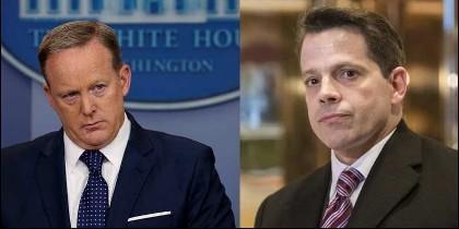 Sean Spicer y Anthony Scaramucci.