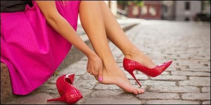 Zapatos, pies, tacones, moda.