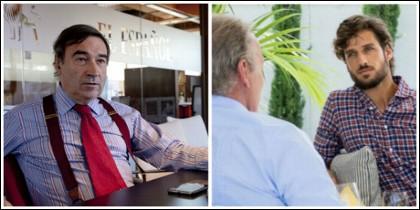 Pedrojota y Feliciano López en su entrevista con Bertín Osborne.