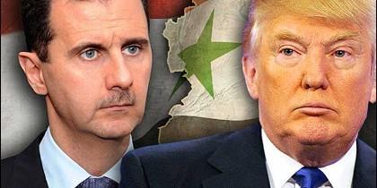 Al Assad y Trump