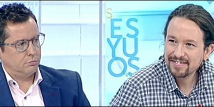 Pablo Iglesias desayunándose a Sergio Martín.