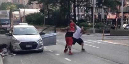 Ataque callejero con machete