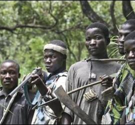Los anti-balaka, en Bangassou