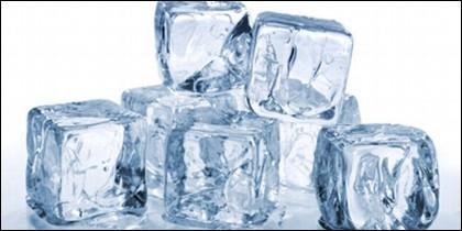 Cubitos de hielo.