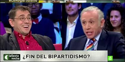 Juan Carlos Monedero y Eduardo Inda.
