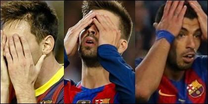 Messi,Neymar y Luis Suárez.