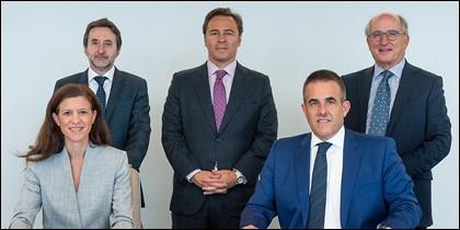 Los responsables de El Corte Inglés y Repsol.