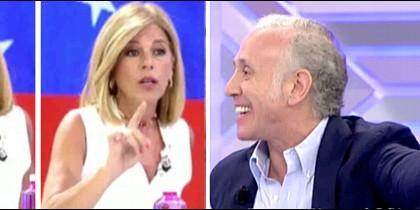 Esther Palomera al cuadrado y Eduardo Inda.