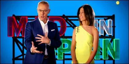Jordi Gonzalez y Nuria Marín, presentadores de 'Mad in Spain'.