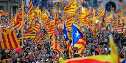 Miles de esteladas en Cataluña