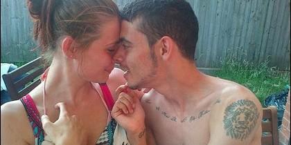 Katie Widdowson y su novio