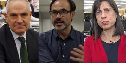 Antonio Caño, Fernando Garea y Anabel Díez.
