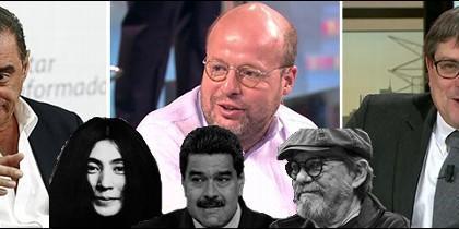 Herrera, Sostres y Marhuenda con Yoko Ono, Maduro y Silvio Rodríguez.