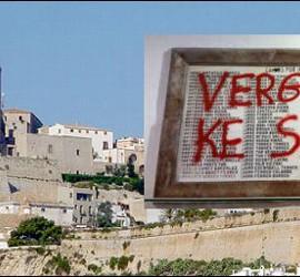 Pintada en la catedral de Ibiza