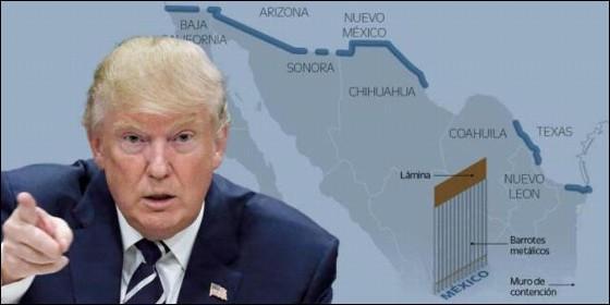 Donadl Trump y el muro entre México y EEUU.