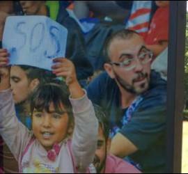 Via Crucis de los refugiados en el santuario de Loyola