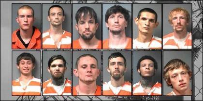 Los 12 presos de la fuga de Alabama.