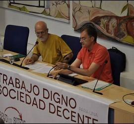 Gómez Serrano y Almazán en la presentación de los cursos de verano de la HOAC