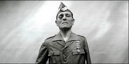El General Millán Astray, fundador de la Legión Española, tuerto y manco.