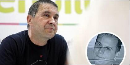 El proetarra Arnaldo Otegi y el asesino etarra Kepa del Hoyo.