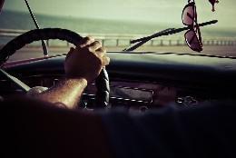Conductor, coche, tráfico.