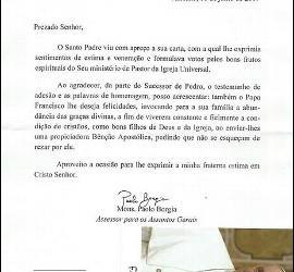 La carta del Vaticano a la pareja gay brasileña