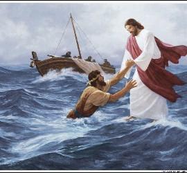 Jesucristo rescata a Pedro