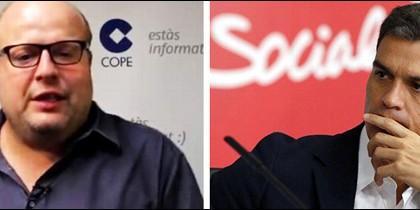Salvador Sostres y Pedro Sánchez.