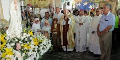 La Virgen peregrina llegó a Venezuela el viernes 21 de abril