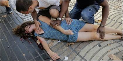 Una de las víctimas del atentado terrorista en La Rambla de Barcelona.