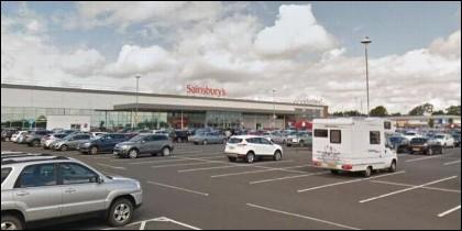 El centro comercial de la cadena Sainsbury, en Escocia.