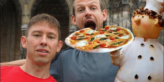 Comer pizza