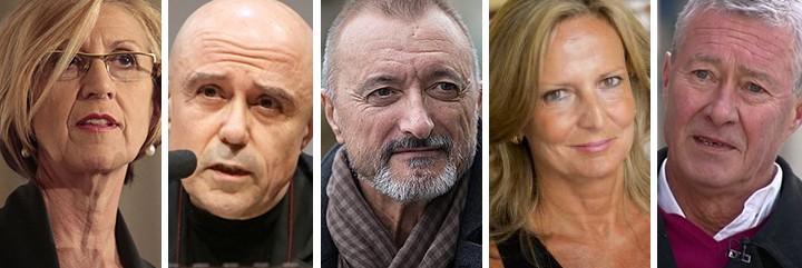 Rosa Díez, Gabriel Albiac, Pérez-Reverte, Isabel San Sebastián y Jorge Verstrynge.