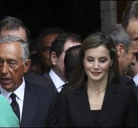 Omella saluda al presidente portugués