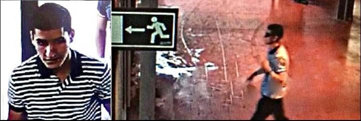 Younes Abouyaaqoub, el terrorista islámico de La Rambla de Barcelona.