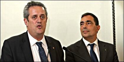 El conseller de Interior de Cataluña, Joaquim Forn y el director de los Mossos, Pere Soler.