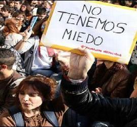 NO tenemos mido, lema de Barcelona