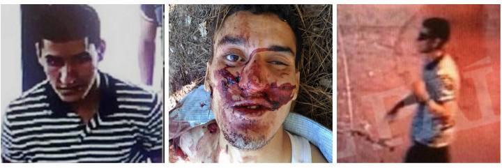 Younes Abouyaaqoub, el terrorista islámico de La Rambla de Barcelona, tras ser abatido.
