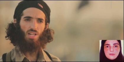 El terrorista islámico Yassin Ahram Pérez, alias 'El Cordobés', y su madre Tomasa Pérez Mollejas.