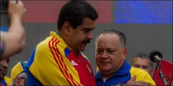 El dictador Nicolás Maduro con el narco Diosdado Cabello.