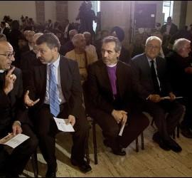 Omella, junto a otros líderes religiosos