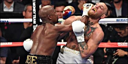 Floyd Mayweather contra Conor McGregor.