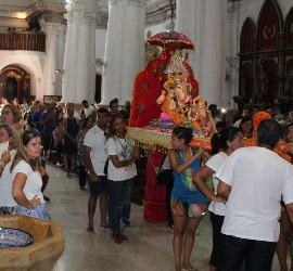 La imagen de Ganesh, en el santuario