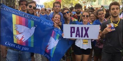 Jóvenes de San't Egidio por la paz