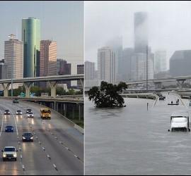 Antes y después del huracán Harvey