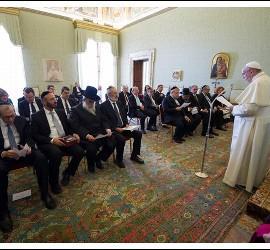 El Papa Francisco, con los rabinos