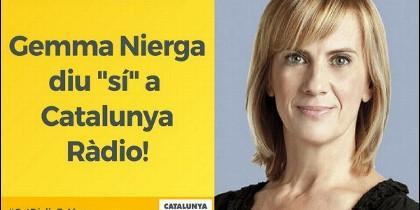 Gemma Nierga en Catalunya Radio.