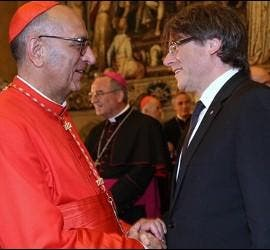 El cardenal Omella y el president Puigdemont