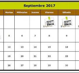 Calendario del mes de la Biblia